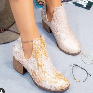 Gold snake bootie